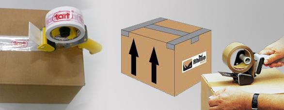 in hộp giấy đựng băng keo