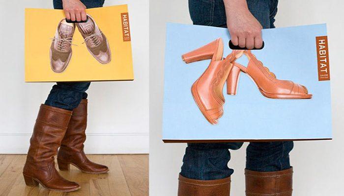 In túi giấy đựng giày dép đẹp