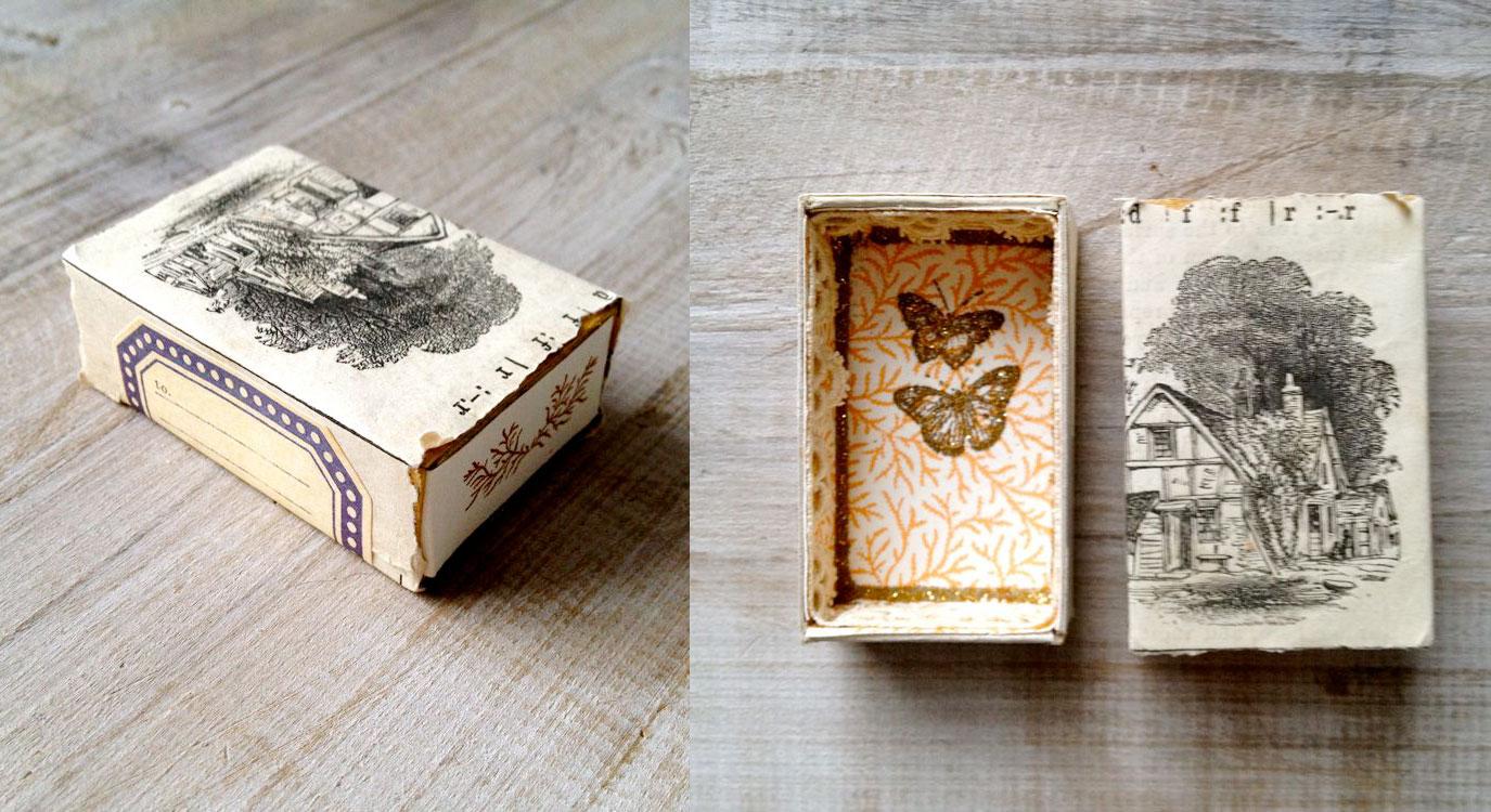 in hộp giấy vintag